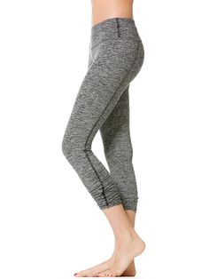 Ruched Skinny Capri Legging