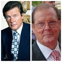 Roger Moore, b. Celebrities Who Died, Celebrities Before And After, Celebrities Then And Now, Young Celebrities, Hollywood Men, Hollywood Celebrities, Hollywood Stars, Then And Now Photos, Stars Then And Now
