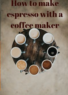 In this article you will learn how to How to make espresso with a coffee maker. The espresso coffee is brewed by using finely ground coffee beans. Joe Coffee, Coffee Type, Coffee Latte, Black Coffee, Coffee Maker, Funny Coffee, Coffee Shop, Best Espresso, Espresso Coffee