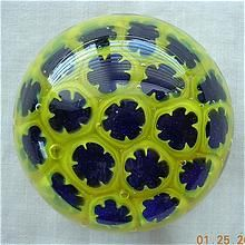 Vintage Bright Yellow Glass Paper Weight