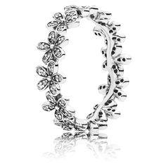 Pandora Ring Glanzvolles Gänseblümchen Band Sterling Silber 190934CZ