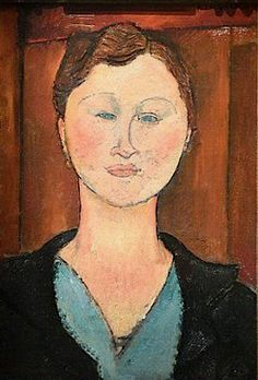 'young lady with earrings' by amedeo modigliani