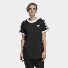 23c187677f 3-Stripes Tee Black CY4751 Adidas Fashion, Black Adidas, Striped Tee, Adidas