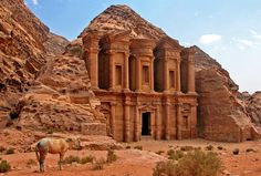 The Ancient City of Petra, Jordan.  i am so impressed with what they built in such an early time.  how did they do this?  it's just amazing