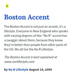 boston accent words