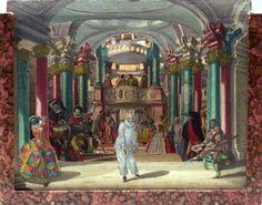 Martin Engelbrecht (1684-1756), Kulissenbild;Venezianischer Karneval, c 1750