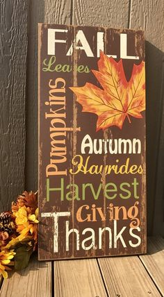 Most recent Free of Charge Easy Fall Wood Crafts Concepts All these crafts were created in our own house, thus we can assure you that they are all child frie Fall Pallet Signs, Fall Wood Signs, Fall Signs, Pallet Art, Wooden Signs, Pallet Painting, Pallet Wood, Fall Projects, Diy Pallet Projects