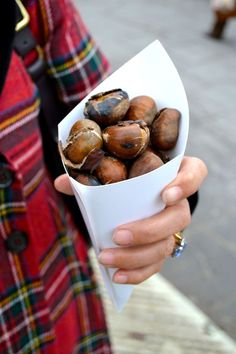 Roasted chestnuts on the streets of France - from www.Thelondoner.me blog