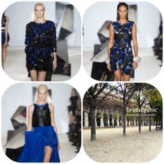 Black and blue on a #woman is #sexy and #brutallychic if it is #GiambattistaValli. www.giambattistavalli.com #womensfashion #womenswear