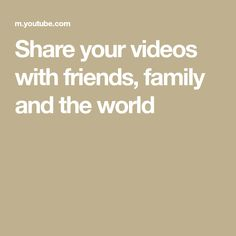 Share your videos with friends, family and the world Tb Joshua, Jason Derulo, After Life, We Are The World, Youtube, Love Songs, Friends Family, Lyrics, The Creator