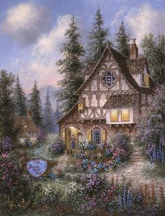 cottage ~ The Bear Haus Inn by Dennis Lewan