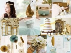 Wedding Colors Gold and Pale Blue