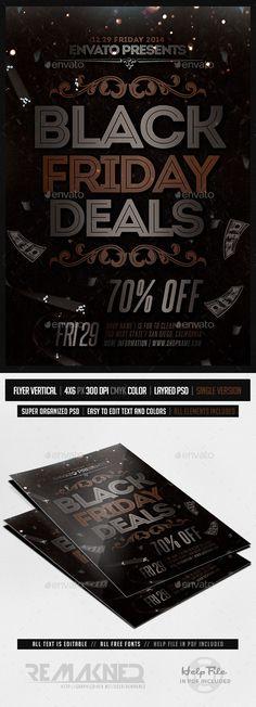 Black Friday Flyer Font logo - black flyer template