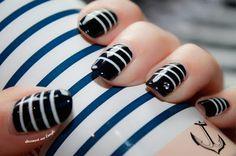 ⚓ Sailor Nails by diamant sur l'ongle