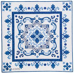 Appliqué Quilt Inspired by Turkish Iznik Tiles by Tamsin Harvey
