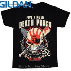 2017 New T Shirts Gildan Print Christmas Five Finger Death Punch Zombie Kill Crew Neck Short-Sleeve Mens Tee #Affiliate