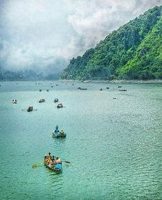 Boating at Nainital , India.