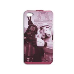 Funny Star Wars Darth Vader Storm Trooper Selfie in Paris iPhone Case Phone Cover 4, 4s, 5, 5s, 5c