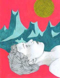 Staring at Moon by Lisa Congdon