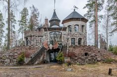 This cool home can be found from Finland. :)