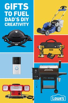 From tools to a new grill, Lowe's has gifts to fuel Dad's DIY creativity.