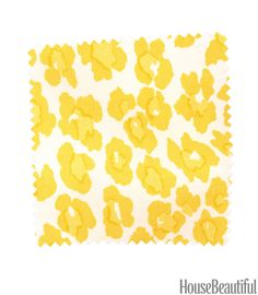 Invigorate your room with this bright, happy print. Linen blend in Parakeet. tilletttextiles.com.