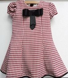 Little Loaves and Fishes Red Houndstooth Annie Dress