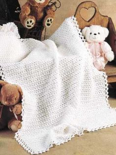 Fast, Easy Crocheted Baby Blanket -- Free Crochet Pattern.what a beautiful blanket!