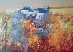 Paesaggio astratto 70x50 cm Luigi Torre painter 2016