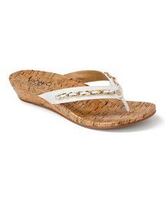 This White Aruba Leather Sandal by Vionic with Orthaheel Technology is perfect! #zulilyfinds