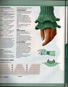Ruffled Knit Sleeve Edge - Two Ways, Wit - Post - Marecipe Knitting Charts, Knitting Stitches, Knitting Patterns Free, Free Knitting, Baby Knitting, Stitch Patterns, Crochet Patterns, Knit Crochet, Crochet Hats