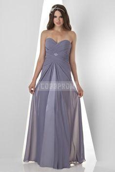 Simple Ruched A-line Draping Chiffon Natural Waist Bridesmaid Dress