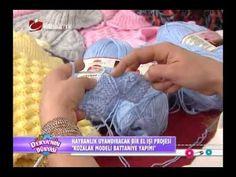 deryanın dünyası kozalak modeli battaniye yapımı ve tarifi - YouTube