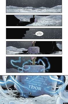 """""""This is not She-Thor. This is not Lady Thor. This is not Thorita. This is Thor. This is the Thor of the Marvel Universe. But it's unlike any Thor we've ever seen before,"""" says writer Jason Aaron. Thor 1, New Thor, Lady Thor, Loki, Marvel Women, Marvel Dc, Marvel Comics, Marvel Live, Cosmic Comics"""
