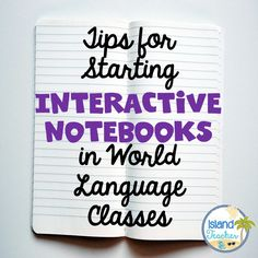 Island Teacher: Tips for Starting Interactive Notebooks in World Language Classes...Part 1 Middle School Spanish, Elementary Spanish, Spanish Classroom, French Classroom, Classroom Ideas, Bilingual Classroom, Classroom Activities, Spanish Interactive Notebook, Interactive Student Notebooks