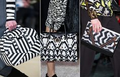 Fall/ Winter 2014-2015 Handbag Trends: Black and White Bags  #bags #bagtrends #trends