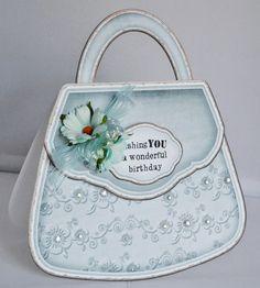 The Clipart Fairy: Handbag Card Tutorial