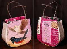 The Purse Project: bags made from birdseed bags!