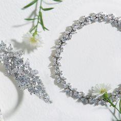 White Gold Bracelet, Silver Bracelet, White Gold Bridal Bracelet, Bridal Bracelet, White Gold Bridal Jewelry, Bridal Jewelry, White Gold CZ Bracelet