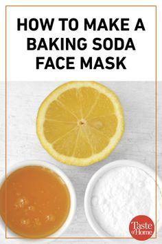 How to Make a Baking Soda Face Mask – Comment faire un masque facial au bicarbonate de soude – – Baking Soda And Honey, Baking Soda Mask, Baking Soda Vinegar, Baking Soda Shampoo, Baking Soda Uses, Cider Vinegar, Honey Shampoo, Dry Shampoo, Natural Shampoo