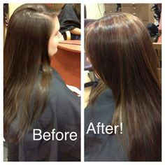Color and cut done by Tiffany. Www.facebook.com/hairbytiffany #hair #hairstyles #highlights #brunette