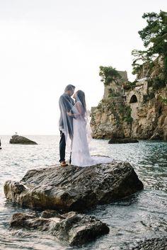 Breathtakingly Romantic + Beautiful Positano Elopement and Her Alfred Angelo Wedding Dress   Fab Mood #fabmood