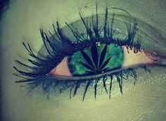 the ganja eye ( marijuana cannabis )