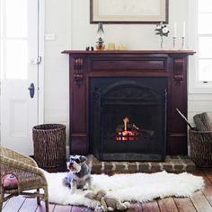 Reader Jodie's beautiful fireplace takes pride of place in her country style home. See the September 2014 issue of homes+ magazine for more. #countrystyle #decor #fireplace #homesplusmag