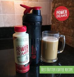The easiest way to make a Butter Coffee. Just pour in the PowerCreamer, Blend or shake up, and enjoy.