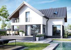 Acasă Proiect: HomeKONCEPT-9 - Vedere casei din grădină