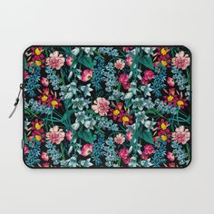 Check out society6curated.com for more! @society6 #floral #flowers #pattern #laptop #computer #case #sleeve #electronic #accessory #accessories #fashion #style #student #college #gift #idea #fun #unique #art #artsy #design #cool #awesome #green #red #pink #black #blue