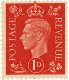 King George VI stamp by Eric Gill Great Britain. 1937 King George VI and National Emblems Typography by Eric Gill Portrait by Edmund Dulac