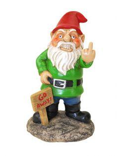 """""""Go Away"""" Garden Gnome"""