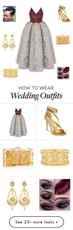 """""""Wedding Guest"""" by irockcrowns on Polyvore featuring Rasario, Imagine by Vince Camuto, Konstantino and Jose & Maria Barrera"""